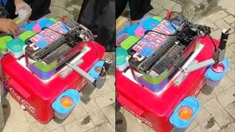 Viral Aksi Penjual Es Robot Sajikan Minuman dengan Mesin Printer