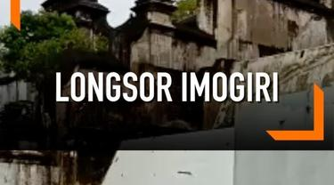 Longsor terjadi di sisi timur kompleks Makam Raja Imogiri, Bantul, Yogyakarta.