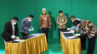 Gubernur Jawa Tengah Ganjar Pranowo tetap membuka gelaran Central Java Investment Business Forum (CJIBF) 2020, secara daring, Rabu (11/11/2020).