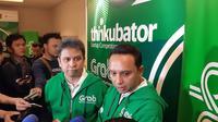 Ridzki Kramadibrata, President Grab Indonesia dan Ongki Kurniawan, Executive Director Grab Indonesia. Liputan6.com/Agustinus Mario Damar