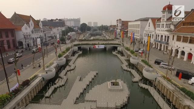 Kawasan Kali Besar Kota Tua telah selesai direvitalisasi. Hasilnya lokasi ini kini terlihat apik dan instagrammable.