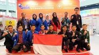 Mahasiswa Indonesia yang telah meraih 4 medali emas, 2 medali perak, dan 1 perunggu di ajang Kaohsiung International Invention and Design Expo, 9 - 11 Desember 2016 di ICCK Taiwan. Foto: Innopa