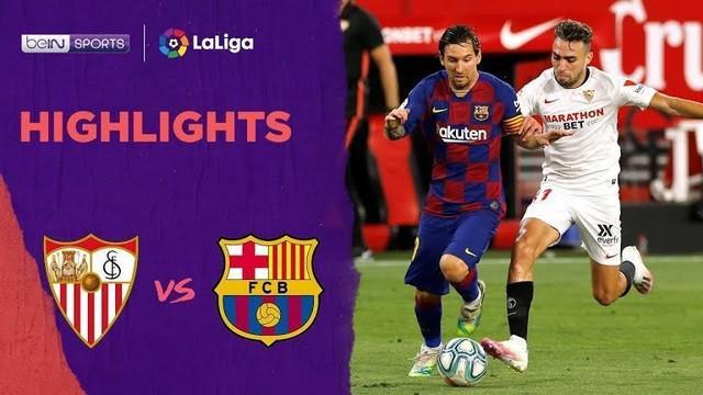 Berita video highlights La Liga 2019-2020 antara Barcelona melawan Sevilla yang berakhir tanpa gol pada Sabtu (20/6/2020) dini hari WIB.