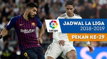 Berita video jadwal La Liga 2018-2019 pekan  ke-29. Barcelona Hadapi Espanyol di Camp Nou, Barcelona.