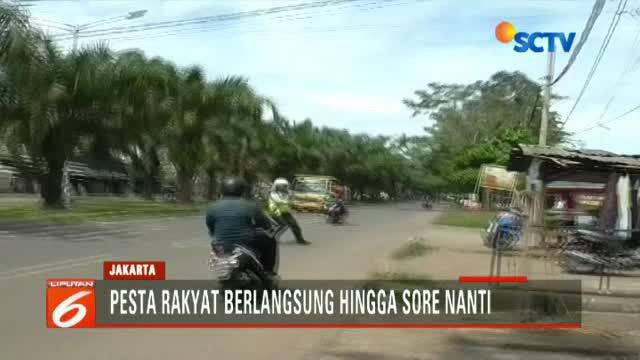 Operasi Patuh Kalimaya digelar di ruas Jalan Tigaraksa, Tangerang, yang memang mudah ditemukan tindak pelanggaran para pengendara motor.