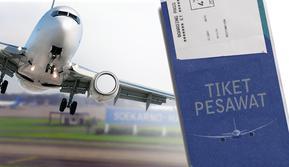 Ilustrasi tiket pesawat(Www.sulawesita.com)
