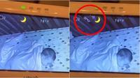 Sosok mengerikan tertangkap kamera CCTV (Sumber: TikTok/lexibruner04)