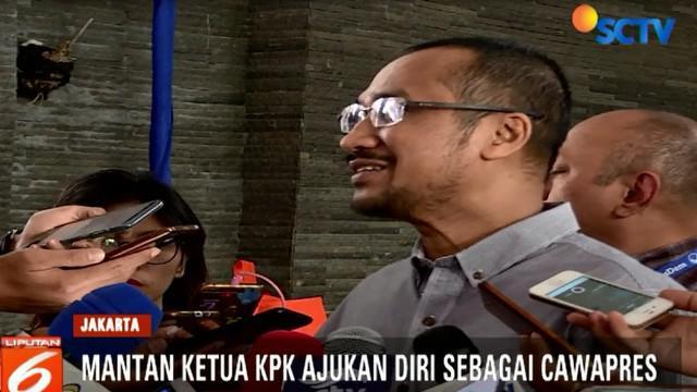 Abraham Samad temui Ketum Partai Nasdem Surya Paloh, dengan tujuan agar dirinya dicalonkan sebagai Cawpres Jokowi di Pilpres 2019.