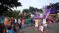 Suasana Car Free Day di Jalan Besar Ijen, Kota Malang, Jawa Timur (Liputan6.com/Zainul Arifin)