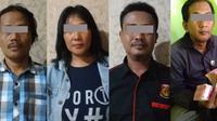 Pelaku pemerasan dengan modus mengaku wartawan dan LSM. (Foto: Liputan6.com/Polres Pemalang/Muhamad Ridlo).