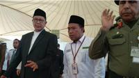 Rombongan Menteri Agama Lukman Hakim Saifuddin bersama Amirul Hajj tiba di Tanah Suci. (Maulana Kautsar/dream.co.id)