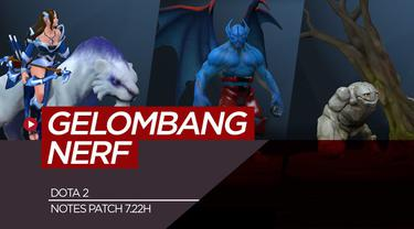 Berita video 5 hero Dota 2 yang diupdate pada note patch 7.22h.