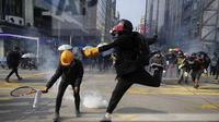 Demonstrasi Hong Kong, Minggu (20/10/'19). (Source: AP/ Mark Schiefelbein)