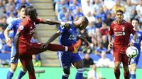 Aksi Sadio Mane saat Liverpool menang lawan Leicester City  (AP Photo/Rui Vieira)