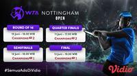 Live Streaming Pertandingan WTA Nottingham Open 2021 Pekan Ini di Vidio. (Sumber : dok. vidio.com)