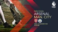 Arsenal vs Manchester City (Liputan6.com/Abdillah)