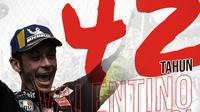 42 tahun Valentino Rossi. (Bola.com/Dody Iryawan)