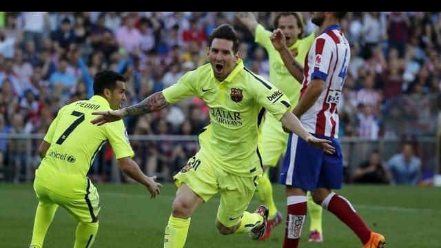 Barcelona memastikan gelar juara usai menang atas Atletico