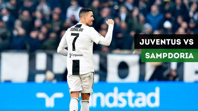 Juventus meraih kemenangan 2-1 atas Sampdoria dalam lanjutan Serie A pekan ke-19 di Allianz Stadium, Sabtu (29/12/2018)