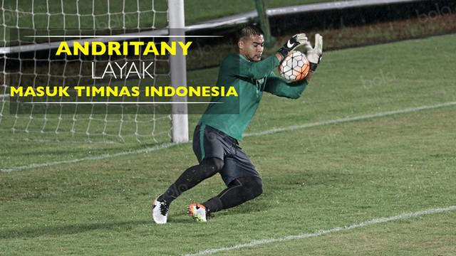 Video statistik kiper Persija Jakarta, Andritany, yang menunjukkan dirinya layak masuk Timnas Indonesia untuk Piala AFF 2016.