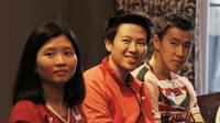 Pebulutangkis Indonesia, Liliyana Natsir, saat jumpa dengan content creators di Jakarta, Selasa (24/7/2018). Acara tersebut dalam rangka memberi dukungan untuk para atlet jelang Asian Games 2018. (Bola.com/M Iqbal Ichsan)