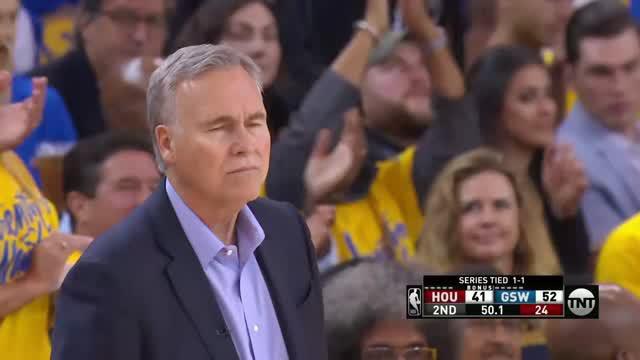 Berita video game recap NBA 2017-2018 antara Golden State Warriors melawan Houston Rockets dengan skor 126-85.