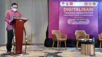 Dir. Ekonomi Digital Kemkominfo, I Nyoman Adhiarna, saat memperkenalkan platform Digihealth.id dalam webinar 'Sosialisasi Platform Digihealth: Digitalisasi Tenaga Kesehatan' pada Minggu (10/10/2021). Dok: Digihealth.id