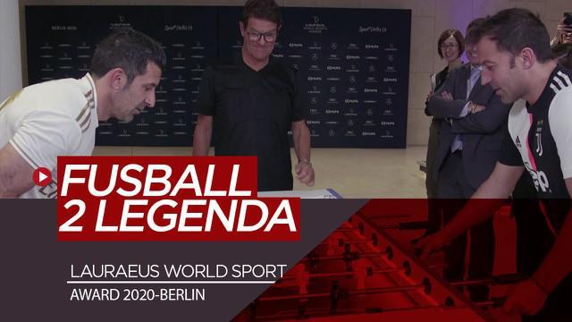 Berita Video momen Alessandro Del Piero, Luis Figo dan Fabio Capello asyik bermain Fussball