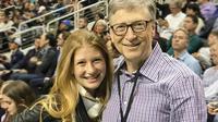 Gates dan anaknya menghabiskan waktu bersama