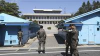 Perbatasan Korea Utara dan Selatan di Desan Panmunjom (AP/Ahn Young-joon)