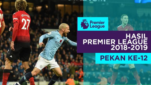 Berita video hasil Premier League 2018-2019  pekan ke-12. Manchester City kalahkan Manchester United 3-1 di Etihad Stadium.
