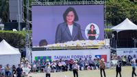 Presiden Tsai Ing-wen menyampaikan pesan mendalam selama pidato pembukaan di Istana Presiden, Taipei, Taiwan, Kamis (10/10/2019). (Official Photo by Wang Yu Ching / Office of the President)