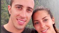 Andrea Dovizioso dan kekasihnya, Alessandra Rossi. (Instagram/Andrea Dovizioso)