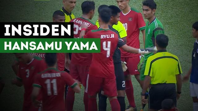 Berita video tindakan Hansamu Yama pada akhir laga melawan Kamboja yang membuat dirinya absen membela Timnas Indonesia U-22 kontra Malaysia pada semifinal cabang sepak bola SEA Games 2017.