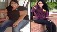 Kimberly melakukan diet keto sampai berat badan turun 68 kg. (Instagram Kimberly)