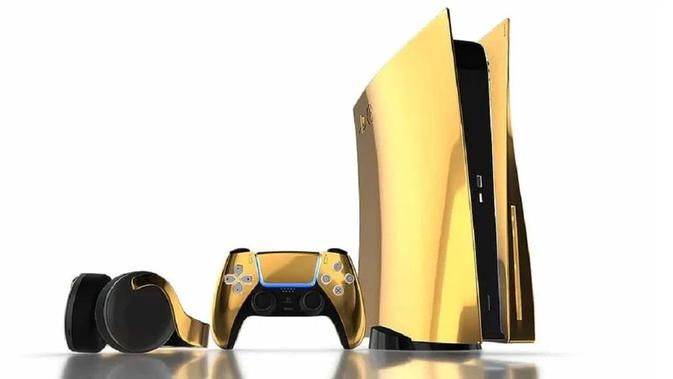 PS5 yang dibalut emas 24 karat akan dijual di pasaran dalam jumlah unit terbatas. (Doc: Truly Exquisite)