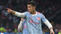 Cristiano Ronaldo saat memperkuat Manchester United dalam laga kontra Young Boys pada laga matchday pertama Liga Champions 2021/2022, Rabu (15/9/2021) dini hari WIB. (SEBASTIEN BOZON / AFP)
