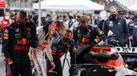 Max Verstapppen pada balapan F1 GP Turki. (UMIT BEKTAS / POOL / AFP)