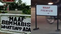 6 Tulisan Maaf di Pom Bensin Ini Bikin Tepuk Jidat (sumber: Instagram.com/ngumpulreceh)
