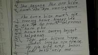 Tubuh kaku pria Cilacap yang bunuh diri itu ditemukan pertama kali oleh anaknya yang masih SD. (Liputan6.com/Muhamad Ridlo)