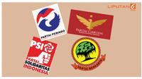 Banner Infografis Elektabilitas Partai Baru Berdasarkan Hasil Survei. (Liputan6.com/Triyasni)