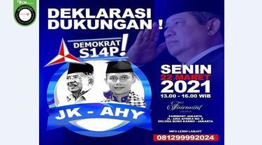Gambar Tangkapan Layar Poster Hoaks Deklarasi JK-AHY (sumber: WhatsApp)