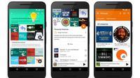 Begini tampilan podcast yang hadir di Google Play Music (Sumber: Tech Crunch).