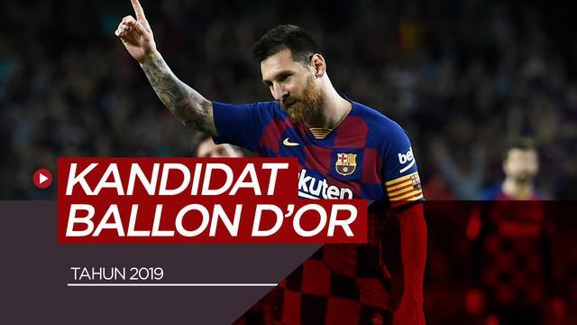 Berita video 40 pemain kandidat peraih Ballon d'Or 2019.