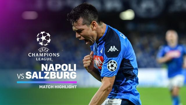 Berita Video Highlights Liga Champions, Napoli Vs RB Salzburg 1-1