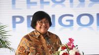 Menteri Lingkungan Hidup dan Kehutanan Siti Nurbaya Bakar dalam puncak peringatan HPSN 2021. (dok. Biro Humas KLHK)