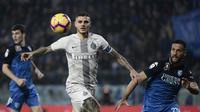 2. Mauro Icardi – Icardi dianggap sebagai penyerang terbaik yang pernah dimiliki Serie A. Saat ini Icardi tercatat sebagai pencetak gol terbanyak Inter musim ini. (AFP/Filippon Monteforte)
