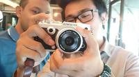 Olympus Pen-F, kamera mirrorless kelas menengah kualitas profesional. (Liputan6.com/Iskandar)