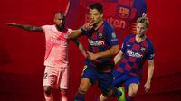 Barcelona - Arturo Vidal, Luis Suarez, Frenkie de Jong, Lionel Messi (Bola.com/Adreanus Titus)