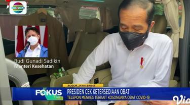 Jokowi sedang bertanya dengan Budi Gunadi Sadikin, MenKes. (Indosiar)